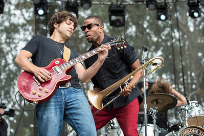 Pete Murano (L) Trombone Shorty (R)