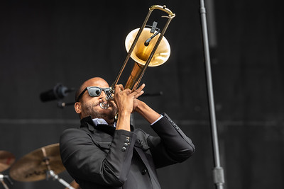 Trombone Shorty performing at Bottlerock
