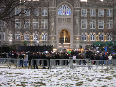 """They turned on the lights in the Keating Blue Chapel for the television.  As Father McShane said...we're marketing Fordham to 4.5 million people."""""""