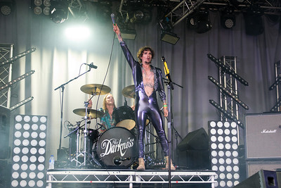 The Darkness, Splendour, Nottingham, 23-07-16. Photo by Laura Patterson. Must credit on use.