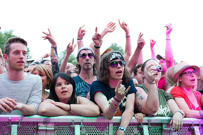 The Darkness Crowd, Splendour, Nottingham, 23-07-16. Photo by Laura Patterson. Must credit on use.