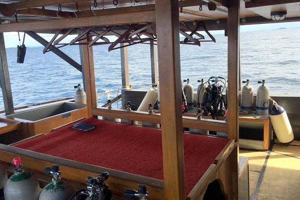 Dive deck and camera table