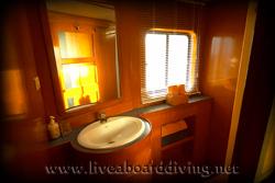 Master cabin bathroom, Mermaid 1, Satonda island, Sumbawa, Java sea, Indian Ocean, Indonesia, Asia