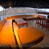The party deck Mermaid2, Komodo island, Flores sea, Indian Ocean, Indonesia, Asia