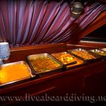 Dining room, Mermaid2, The Similan islands, Andaman sea, Thailand, Indian Ocean, Asia