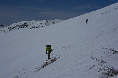 The traverse to Star Pass on Tuesday, half of this snow will be gone by race day.