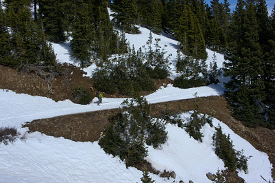 low snow on the high route