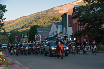 The roll-out through the town of Crested Butte