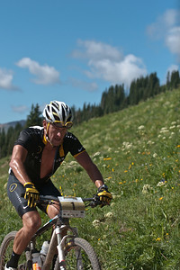 Lance enjoying the wildflowers