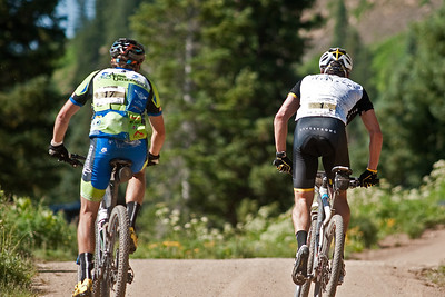 Travis and Lance chatting it up at trail 403