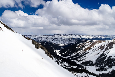 Spring skiing high up up Star Pass