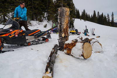 Hauling firewood in from a remote location