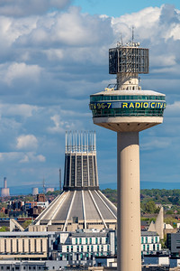Radio City Tower and Metropolitan Cathedral of Christ the King, Liverpool
