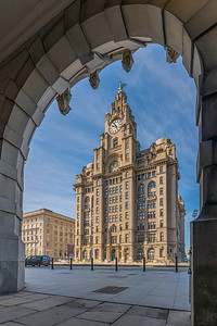 Royal Liver Building, Liverpool Through the Arches