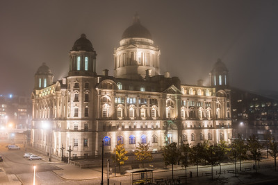 Misty Port of Liverpool Building, Pier Head, Liverpool