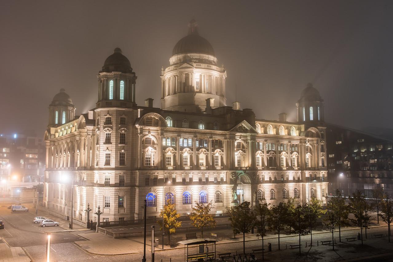 Misty Port of Liverpool Building, Pier Head, Liverpool