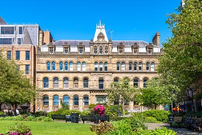 Mersey Chambers, Liverpool from St Nicholas Church Gardens