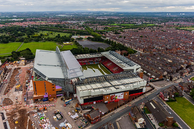 View of the Liverpool FC Main Stand development, Anfield Stadium