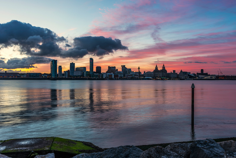 Liverpool Waterfront before Sunrise
