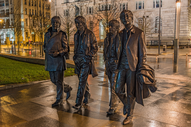 Andrew Edwards' Beatles Statue, Pier Head, Liverpool