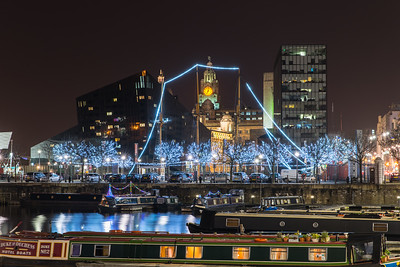 View from Canning Dock, Liverpool at night