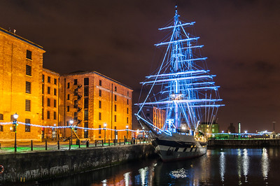 Merseyside Maritime Museum, Albert Dock, Liverpool and the 200ft Tall Ship, Stavros S Niarchos