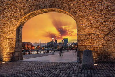 Sunset by the Royal Albert Dock, Liverpool