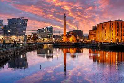 Canning Dock, Liverpool sunrise
