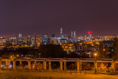 Liverpool Skyline at night, viewed from Everton Park