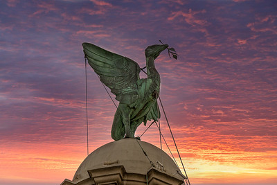 Royal Liver  Bird, Liverpool at sunrise