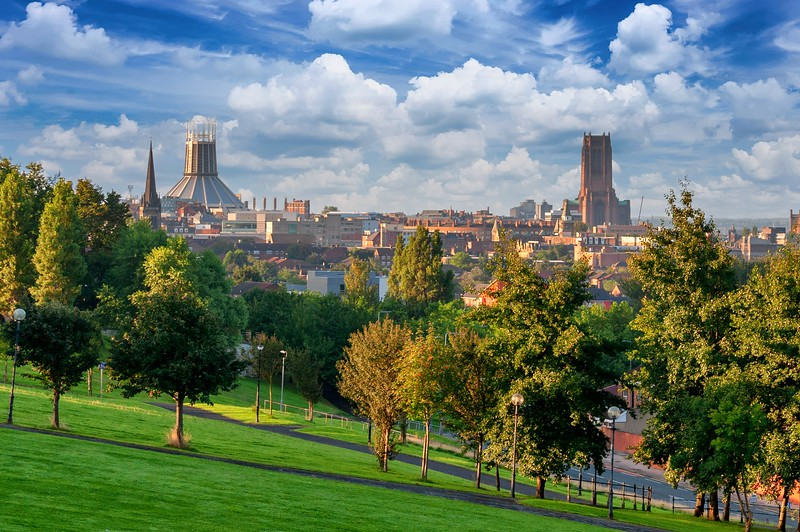 View from Everton Park, Liverpool