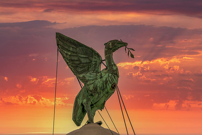 Royal Liver Bird, Liverpool at Dusk