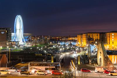 Liverpool Echo Wheel and Albert Dock, Liverpool