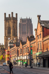 View from Renshaw Street looking towards St Luke's Church and the Anglican Cathedral