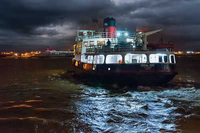 Mersey Ferry departing from Liverpool in the Evening