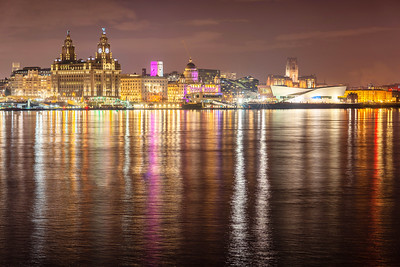 The Iconic Liverpool Waterfront and Reflections on the River Mersey
