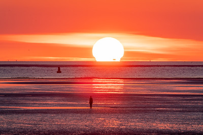 Liverpool Bay Omega Sunset
