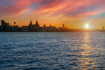 Sunrise over the Liverpool Waterfront