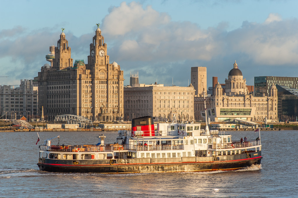 Liverpool Waterfront and River Mersey Ferry Snowdrop