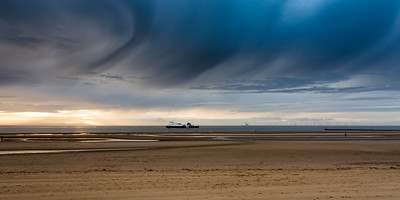 Sunset at #AnotherPlace on Crosby Sands