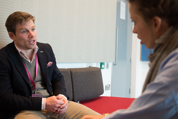 """""""Confronting Resistance: Fundamentals to Innovations"""", The 47th Union World Conference on Lung Health, Liverpool, United Kingdom. Photo shows: Jonathan Cranston being interviewed. British vet who contracted Zoonotic TB probably from a wildebeest. Photo©Marcus Rose/The Union"""