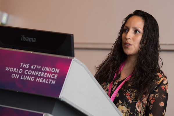 """""""Confronting Resistance: Fundamentals to Innovations"""", The 47th Union World Conference on Lung Health, Liverpool, United Kingdom. Photo shows: Improving Patient Care in MDR-TB. Kai Algeria-Flores. Photo©Marcus Rose/The Union"""