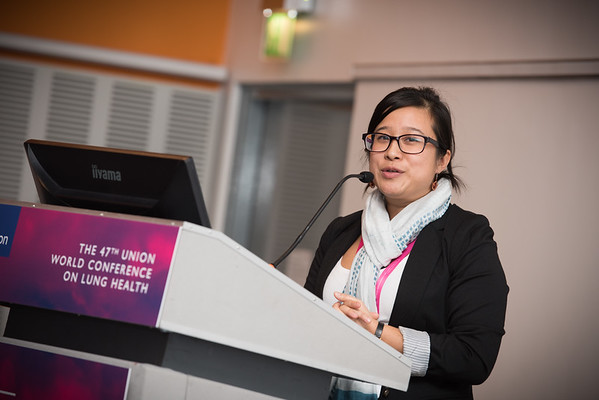 """Confronting Resistance: Fundamentals to Innovations"", The 47th Union World Conference on Lung Health, Liverpool, United Kingdom. Photo shows: Improving Patient Care in MDR-TB. Carolina Kwok. Photo©Marcus Rose/The Union"