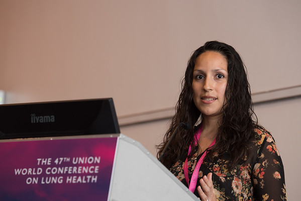 """Confronting Resistance: Fundamentals to Innovations"", The 47th Union World Conference on Lung Health, Liverpool, United Kingdom. Photo shows: Improving Patient Care in MDR-TB. Kai Algeria-Flores. Photo©Marcus Rose/The Union"