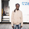"""Confronting Resistance: Fundamentals to Innovations"", The 47th Union World Conference on Lung Health, Liverpool, United Kingdom. Photo shows: Ousainou Sarr, TB patient and outreach worker. Find and Treat Bus onsite visit. Photo©Marcus Rose/The Union"