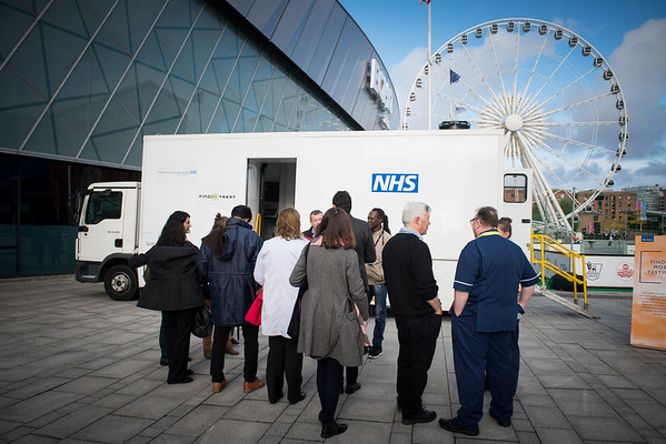 """Confronting Resistance: Fundamentals to Innovations"", The 47th Union World Conference on Lung Health, Liverpool, United Kingdom. Photo shows: Find and Treat Bus onsite visit. Photo©Marcus Rose/The Union"