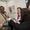 """Confronting Resistance: Fundamentals to Innovations"", The 47th Union World Conference on Lung Health, Liverpool, United Kingdom. Photo shows: Journalists interviews Ousainou Sarr, TB patient and outreach worker. Find and Treat Bus onsite visit. Photo©Marcus Rose/The Union"