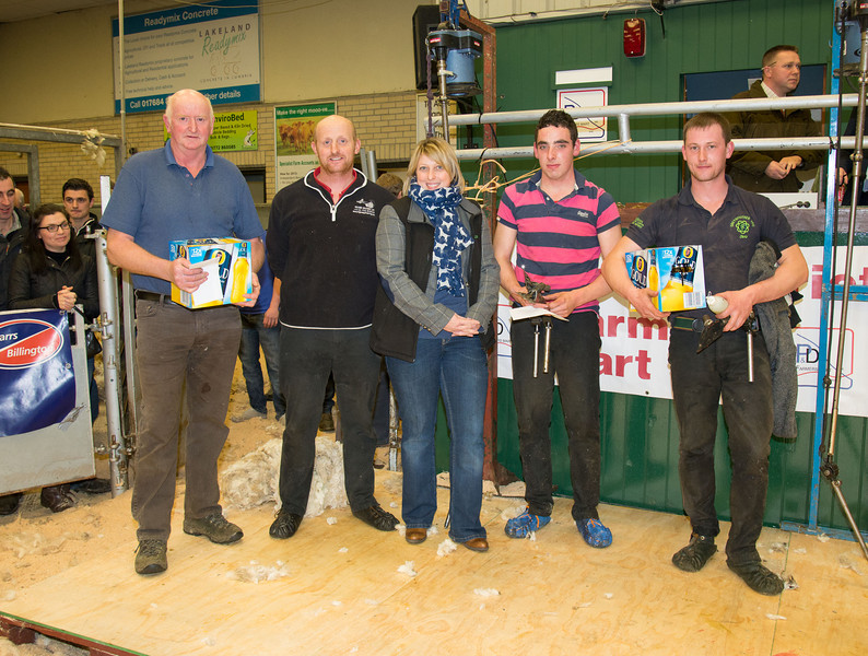 Presentation to the shearers from Lowther Estate.