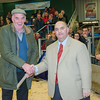 The open male winner, Jack Lawson with David Crowden, chairman of Penrith Auction Mart.