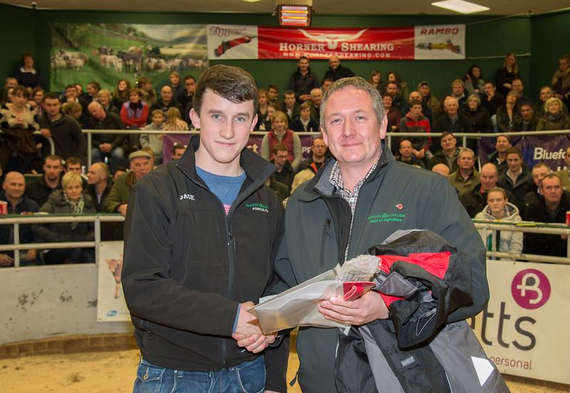 The YFC member winner Jack Peile and Matt Bagley from Newton Rigg College.